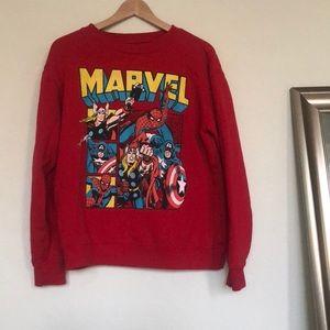 Marvel avengers red sweatshirt S